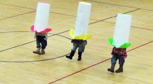 "Students Wear Giant Hats For Synchronized ""Elvira"" Dance"