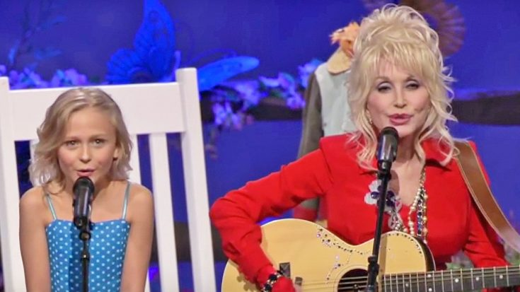 Dolly Parton & Little Girl Who Played Her In 'Coat Of Many Colors' Team Up For Duet   Classic Country Music Videos