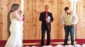 Groom Cries When Bride Walks Down The Aisle Singing Elvis' 'Cant Help Falling In Love'