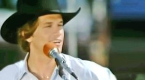 Young George Strait Sings Debut Single, 'Unwound,' On A Boat In Early 80s