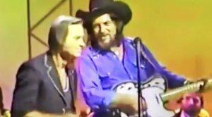 George Jones & Waylon Jennings Sing 'Good Hearted Woman' In Undated Clip