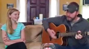 Father & Daughter Sing Duet Of 'When You Say Nothing At All'