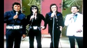 Johnny Cash & Legends Dress Up As Elvis To Honor Him With Music