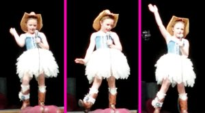 Spunky 7-Year-Old Cowgirl Struts Her Stuff In Adorable 'Delta Dawn' Performance