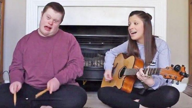 "Young Girl Performs Sweet ""Jolene"" Duet With Brother Who Has Down Syndrome 