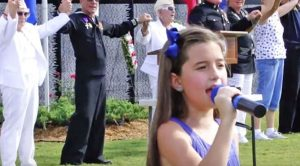 "8-Year-Old Performs Chilling Rendition Of ""God Bless The USA"""
