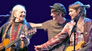 """Willie Nelson & His 2 Sons Perform Impromptu """"Blue Eyes Crying In The Rain"""""""