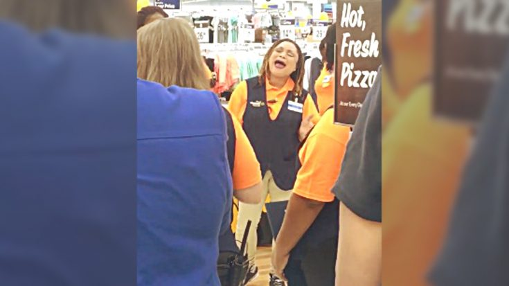 Walmart Worker Bursts Into National Anthem In Honor Of Military Son | Classic Country Music Videos