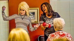 Dolly Reveals Best Kept Secret During Surprise Visit To Senior Center