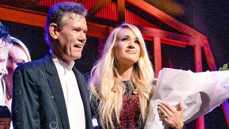 Randy Travis Makes Surprise Appearance To Honor A Tearful Carrie