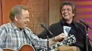 Roy Clark And Johnny Cash Team Up For Unique 'Folsom Prison Blues' Duet