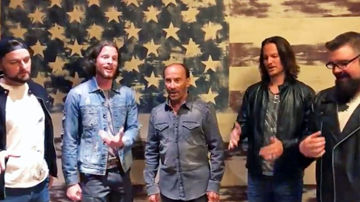 """Impromptu """"God Bless The USA"""" By Greenwood & Home Free Takes Opry By Surprise 