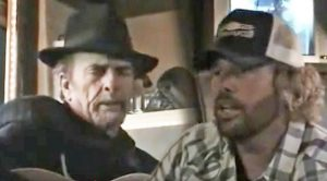 Toby Keith & Merle Haggard Sing Two Songs During Bus Jam Session