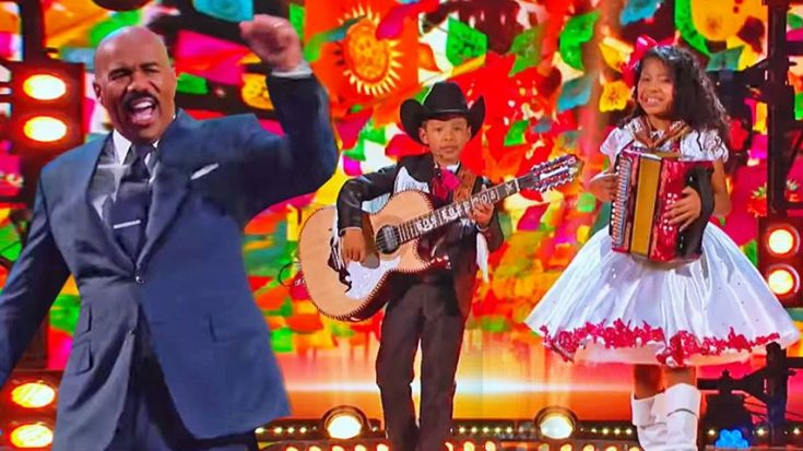 Brother & Sister Duo Perform Buck Owens' 'Open Up Your Heart' On 'Little Big Shots' | Classic Country Music Videos