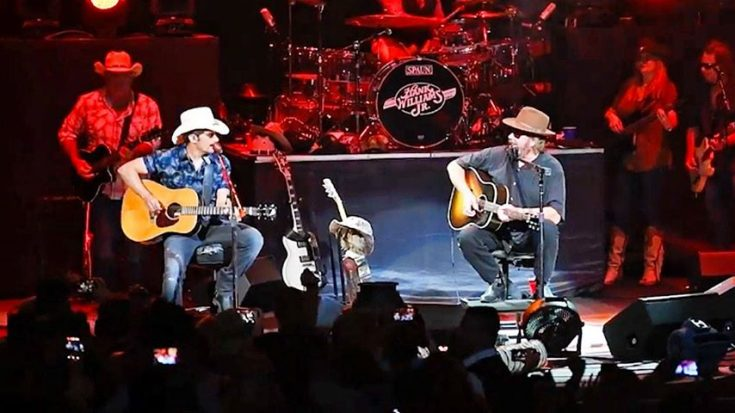 You Don't Want To Miss This Surprise Hank Jr. And Brad Paisley Delivered