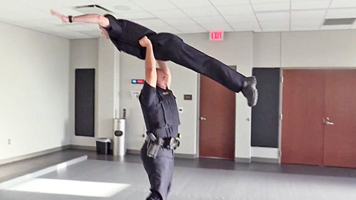 """Police Officers Lip Sync To """"Flashdance,"""" """"Footloose,"""" And Do """"Dirty Dancing"""" Lift 
