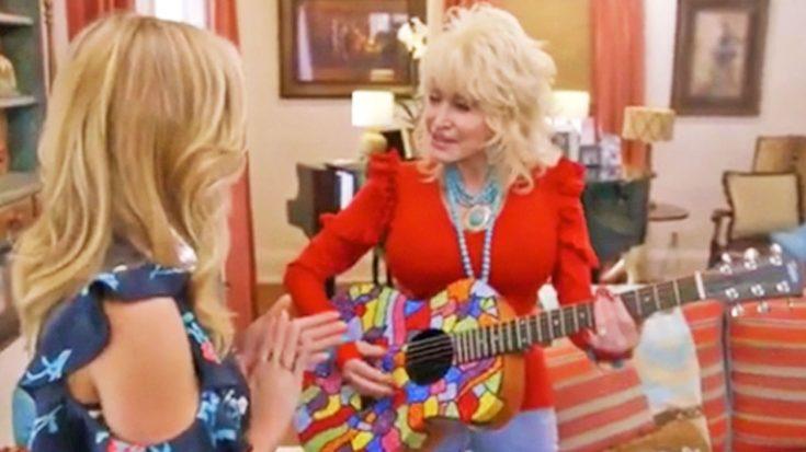 Dolly Parton Surprises Oscar-Winning Actress With 'Magical' Duet