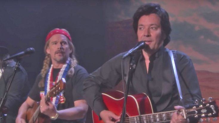 Dressed As Johnny, Willie, Waylon, & Kris, Jimmy Fallon & Friends Deliver Ultimate Outlaw Country Spoof