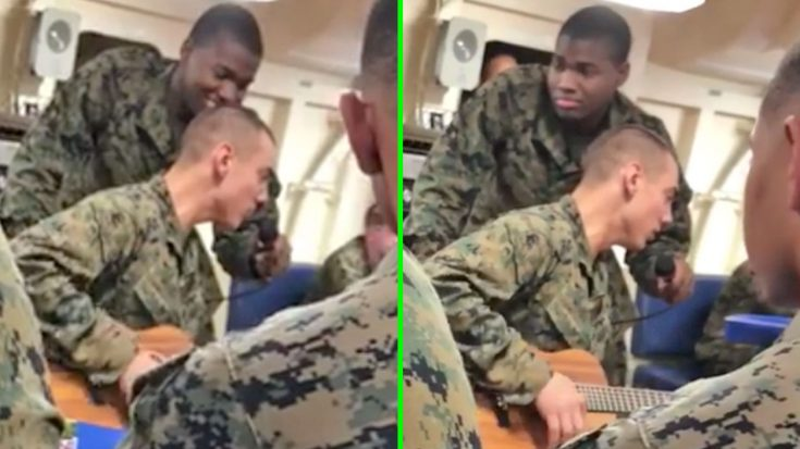 Marine Treats Fellow Service Members To Nostalgic Randy Travis Cover | Classic Country Music Videos