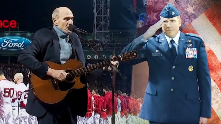James Taylor Gives National Anthem A Folksy Twist For World Series