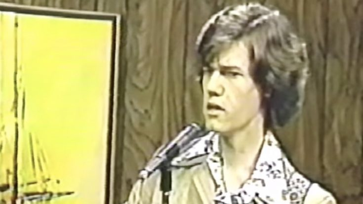 Before He Was Famous, Teenage Randy Travis Performs George Jones Hit In Rare TV Appearance