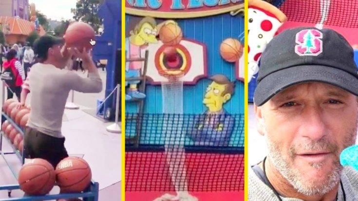 Tim McGraw Conquers Tricky Carnival Game, Wins Strangest Prize Ever | Classic Country Music Videos