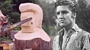 Elvis Sculpture Made From Just One Log Looks Just Like Him