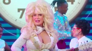 Sharon Osbourne Flawlessly Dresses As Dolly Parton For Comical '9 to 5' Lip Sync