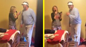 "Daughter Catches Parents Singing ""Islands In The Stream"" In Bedroom"