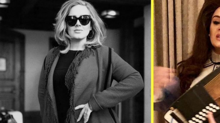 Adele Dresses Up As June Carter Cash – And The Photo Is Brilliant
