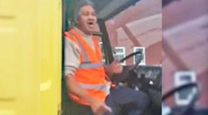 Delivery Driver Sings Elvis Classic In Truck