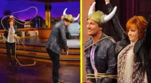 """Reba Slings Lasso Over Matthew McConaughey On """"The Late Late Show"""""""