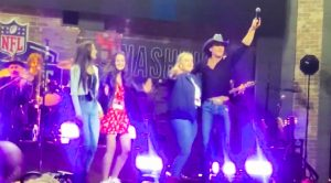 Tim McGraw's Daughters Make Rare Public Appearance At NFL Draft
