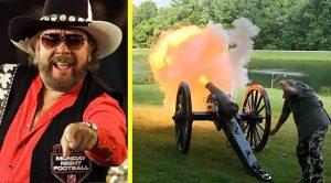 Hank Jr. Blasts Civil War Cannon For 70th Birthday Celebration
