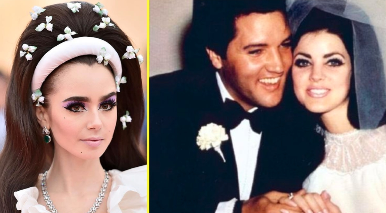 Phil Collins Daughter Channels Priscilla Presley S Wedding Look Classic Country Music