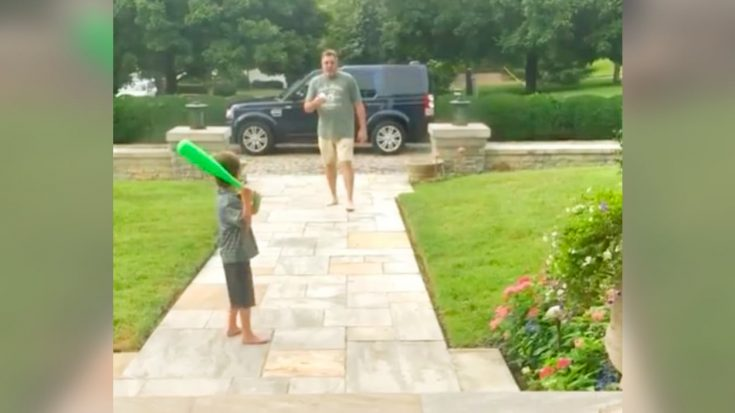 Video Shows Vince Gill Playing Baseball With Young Grandson