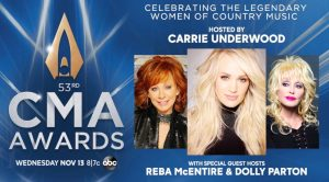 Dolly & Reba Join Carrie Underwood As Hosts Of 2019 CMA Awards