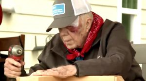 After Fall & 14 Stitches, 95-Year-Old Jimmy Carter Helps Build Nashville House