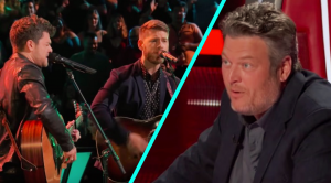'You're Screwed,' Kelly Tells Blake After His 'Voice' Team's 'Should've Been A Cowboy' Battle
