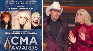Carrie Underwood Speaks In Press Release About Dolly & Reba Replacing Brad On CMA Awards