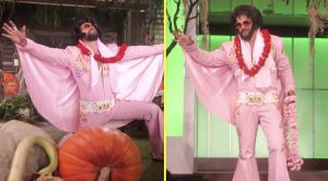 Actor Jason Mamoa Dresses Up As Elvis Presley On Halloween