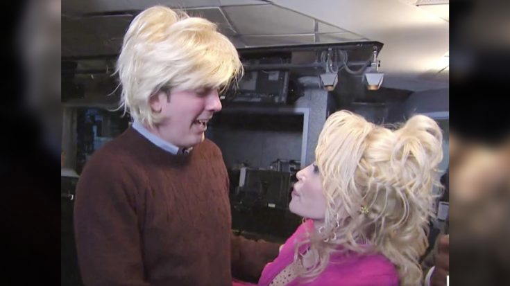 """Dolly Parton """"Super Fan"""" On Verge Of Tears When Dolly Walks Into His Office 