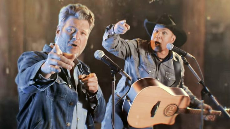 "Blake & Garth Drop Video For ""Dive Bar"" Duet – Garth's First In 10 Years"