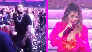Rapper Post Malone Danced And Sang Along To Shania Twain's AMA Performance