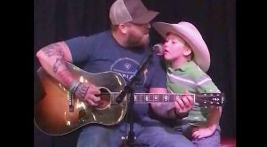 "Jesse Keith Whitley & His Son Jackie Sing ""Don't Close Your Eyes"""