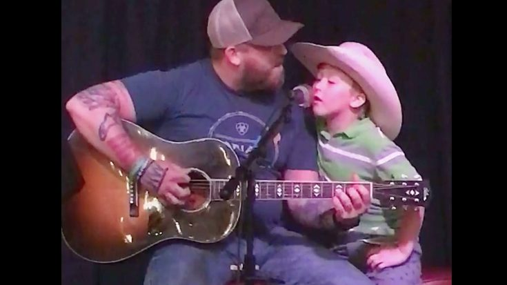 "Jesse Keith Whitley & His Son Jackie Sing ""Don't Close Your Eyes"" 