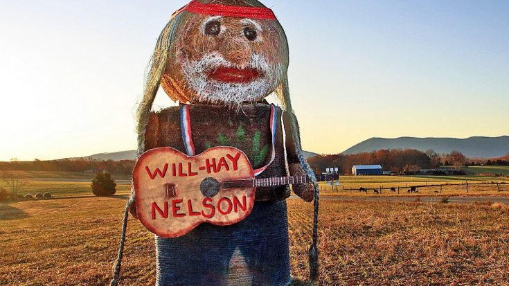 """Woman Creates 15-Foot Tall """"Will-Hay Nelson"""" Hay Bale Sculpture 