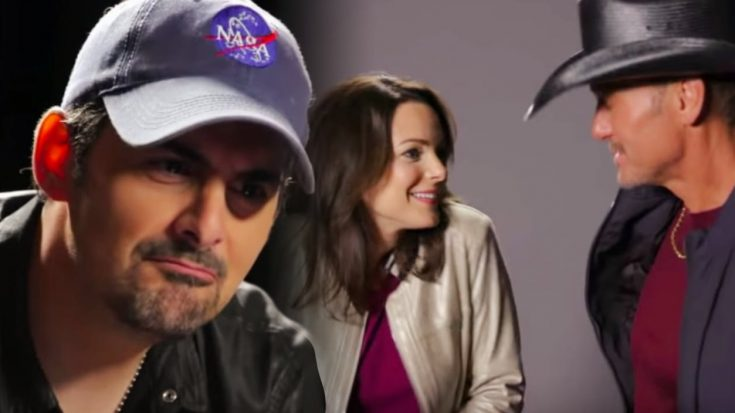 Brad Paisley's Wife Jokes About Kissing Tim McGraw In Bit From Brad's TV Special | Classic Country Music Videos