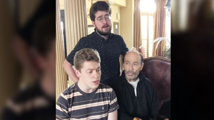 Lee Greenwood Sings 'O Holy Night' With Sons On Christmas Night