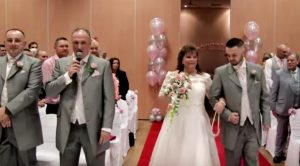 Groom, Who Sounds Similar To Elvis, Sings To His Bride